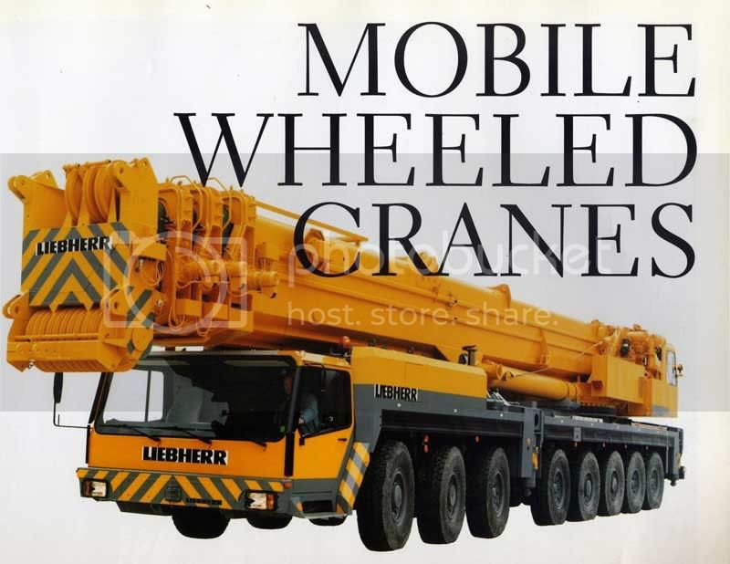 mobile wheeled crane