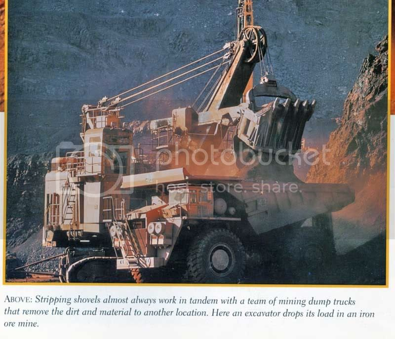 mining shovel and dump truck